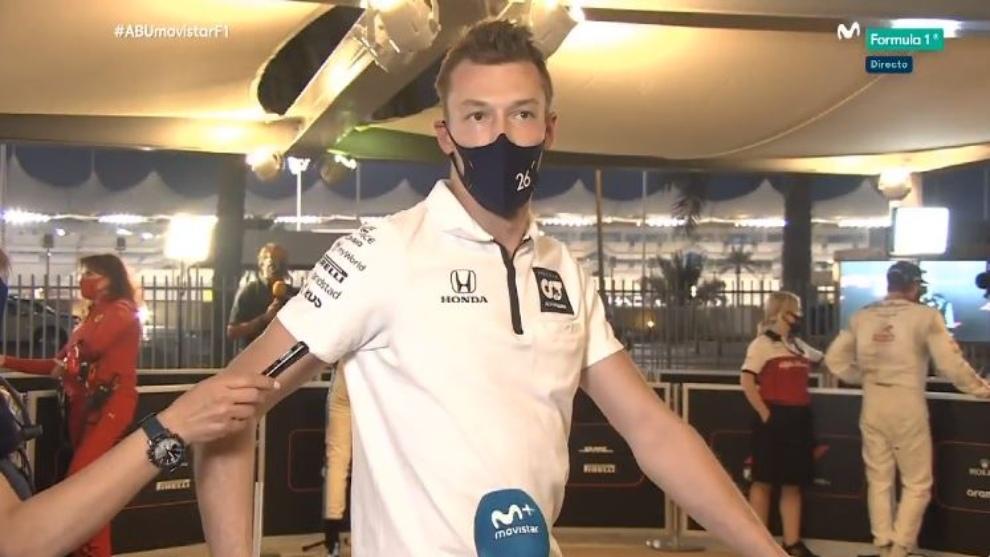 Daniil Kvyat, tras el GP de Abu Dhabi.