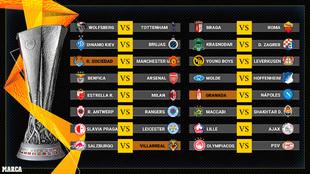 Calendario de la Europa League | Fechas y horarios de dieciseisavos