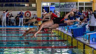 Campeonato de España de natación paralímpica en Oviedo.