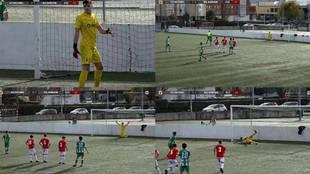 La loca estrategia del portero juvenil del Racing para parar penaltis: ¡lleva tres de cuatro!