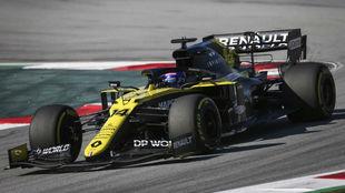 Fernando Alonso tiene una jornada completa con el Renault RS20