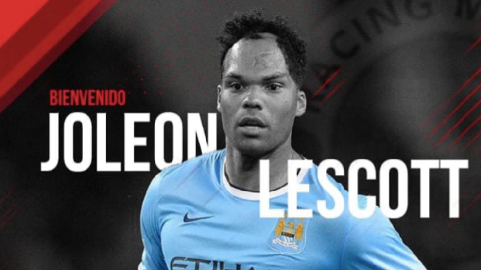 Lescott, el rimbombante fichaje del Racing Murcia para la Copa... no podrá jugar