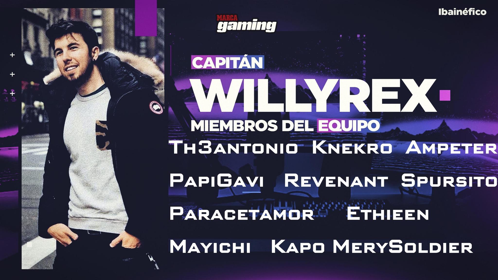 Equipo de Willyrex Ibainéfico 2020