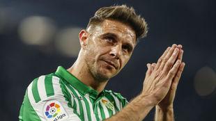 Joaquín, en un partido de Liga