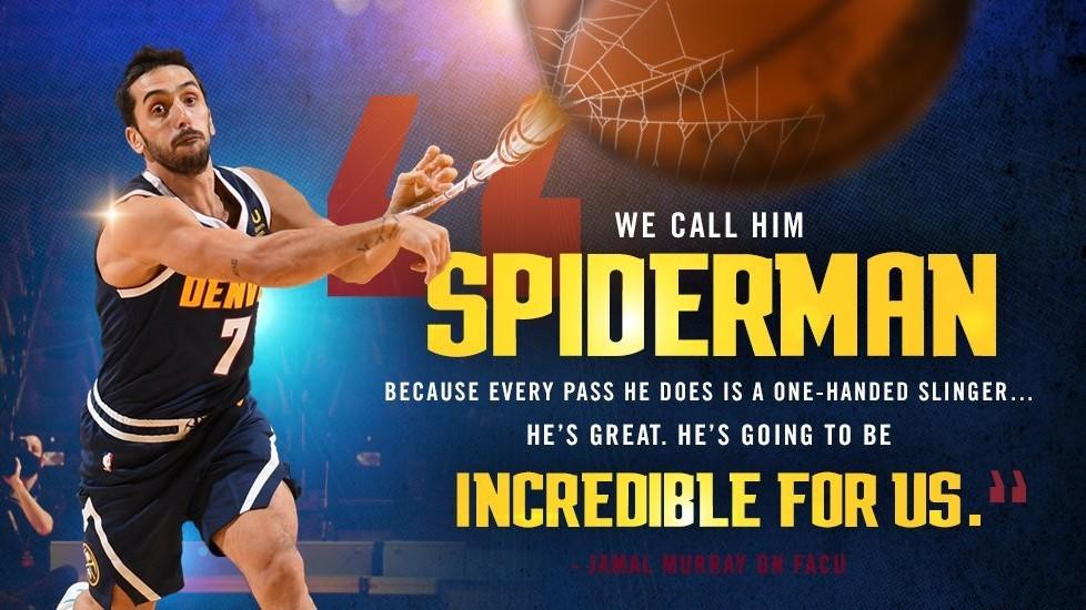 Los Nuggets comienzan la 'Facumanía' y convierten a Campazzo en Spiderman
