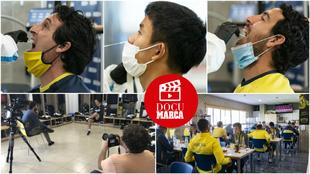 Emery, Parejo y Kubo pasando pruebas PCR y otros momentos del...