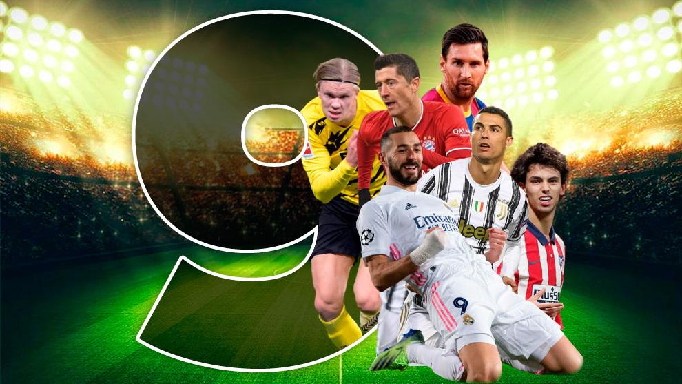 Montaje con los mejores delanteros del panorama mundial