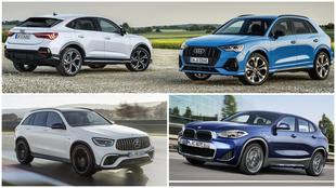 Audi Q3 y Q3 Sportback, Mercedes-Benz GLC y BMW X2.