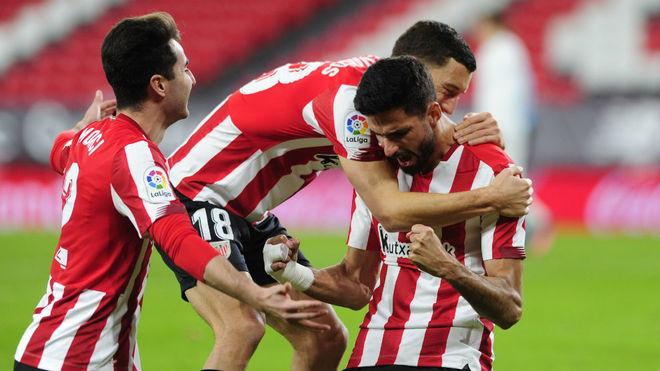 Kodro celebra el primer gol del Athletic