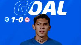 Gerardo Arteaga marca su primer gol con el Genk