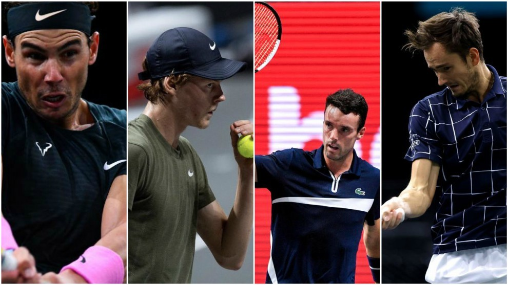 Nadal, Sinner, Bautista y Medvedev