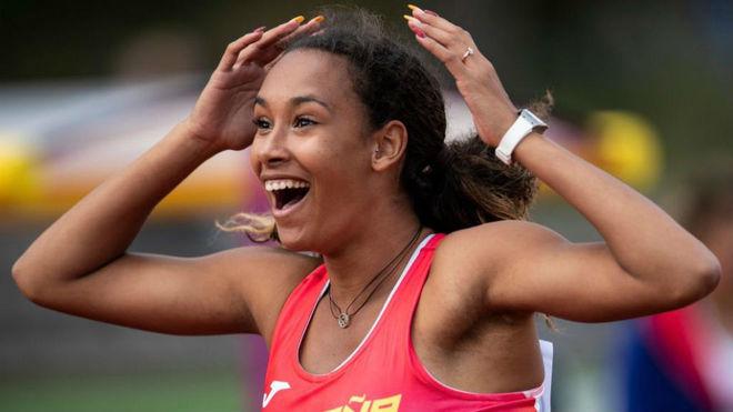 La atleta María Vicente.