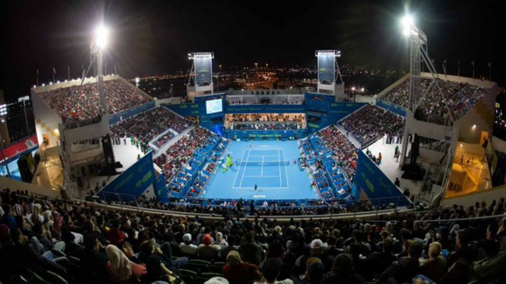 Una vista aérea del Khalifa International Tennis and Squash Complex...