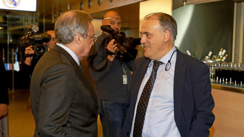 Florentino y Javier Tebas