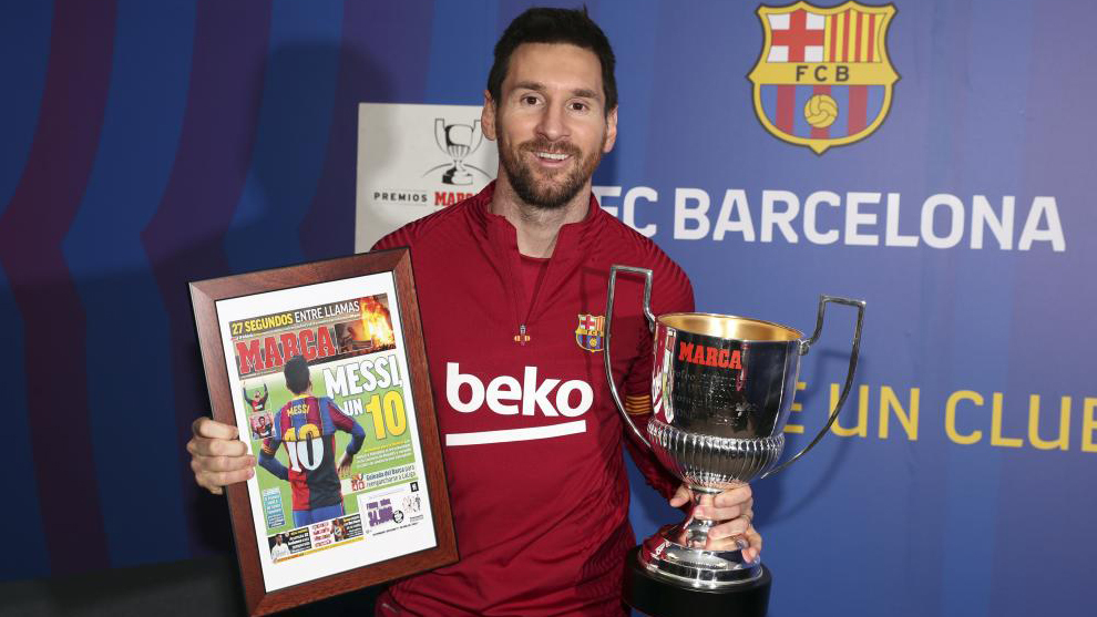 MARCA Football Awards: Messi: It's horrible playing without fans in the  stadium | MARCA in English