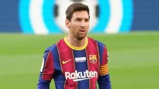 Messi, durante el partido contra el Valencia