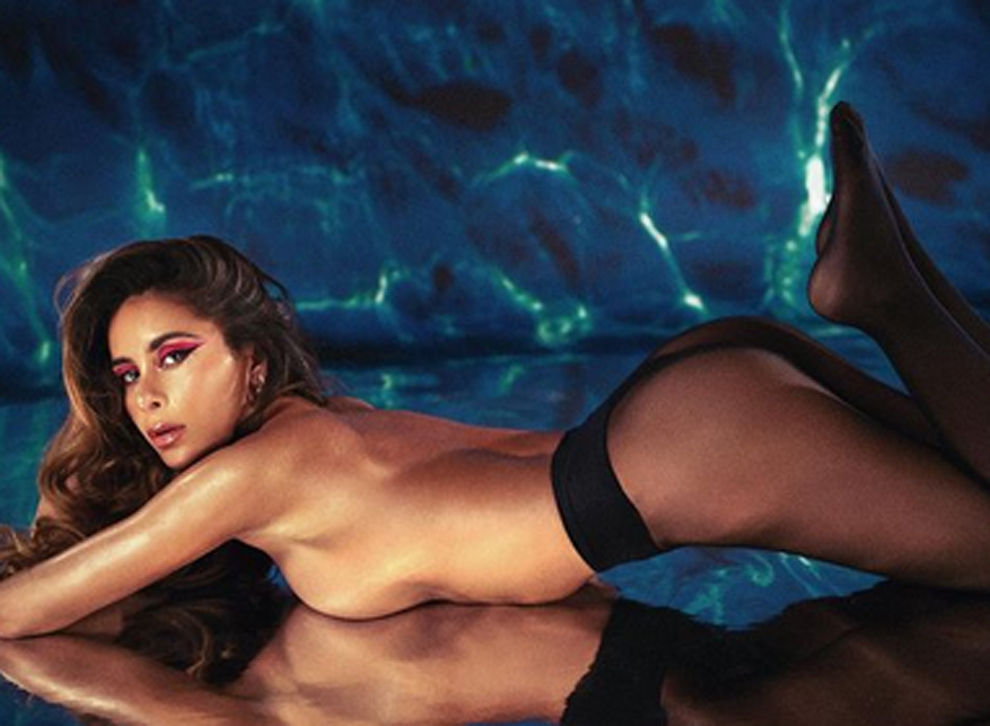 Topless de la cantante Cami que ha revolucionado Instagram