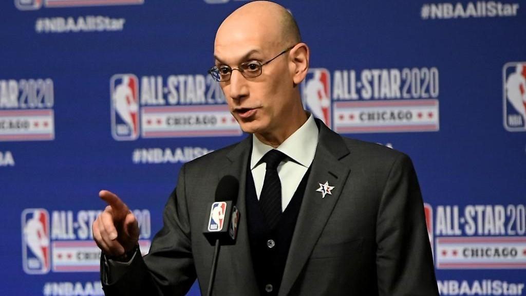 Adam Silver, comisionado de la NBA, durante una rueda de prensa.