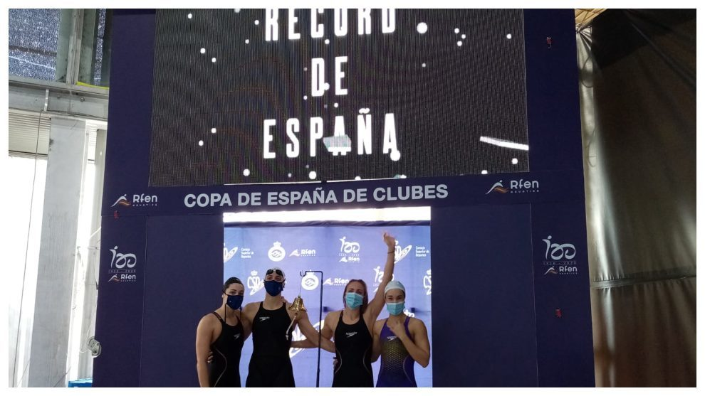 Otro récord de España en la Copa de Clubes: lo bate el Sant Andreu en el 4x50 libre