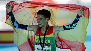 Ayad Lamdassem, en el maratón de Valencia