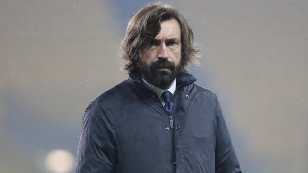 Pirlo durante un partido con la Juventus