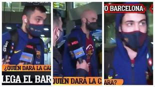 La reacción de Oriola, Abrines, Calathes y Nacho Rodríguez al ser preguntados por Heurtel al llegar a Barcelona