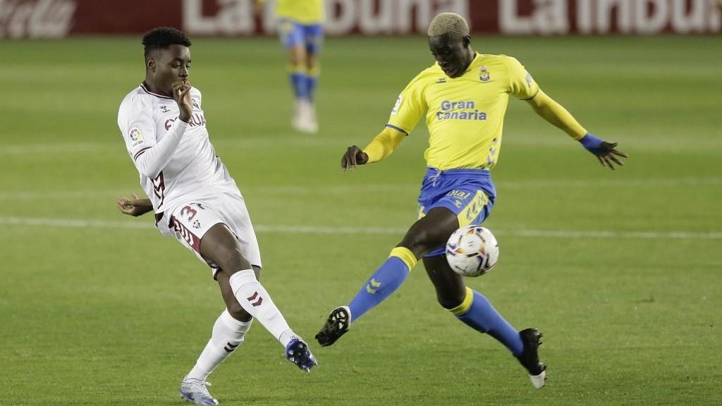 Boyomo, en el partido contra Las Palmas.