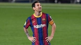 Leo Messi (34), durante un partido con el FC Barcelona