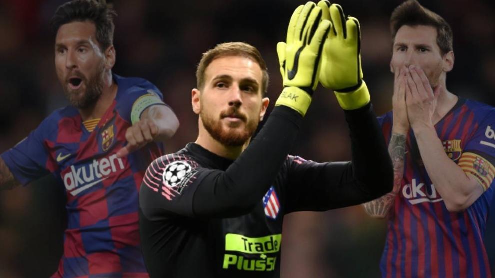 """Oblak se deshace en elogios hacia Messi: """"Me ha marcado demasiados goles... aunque estés al 100%, si él quiere, marcará"""""""