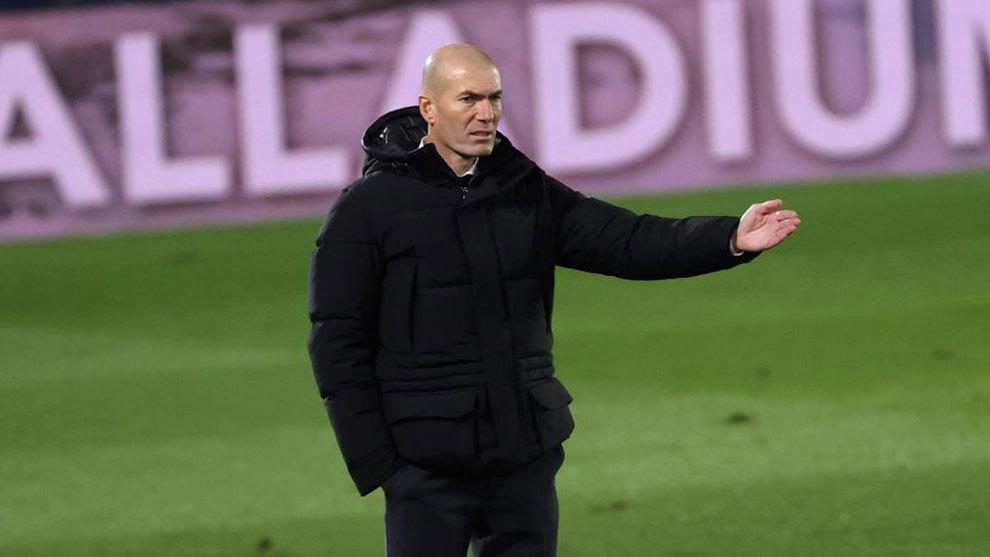 Zinedine Zidane, durante el partido ante el Granada