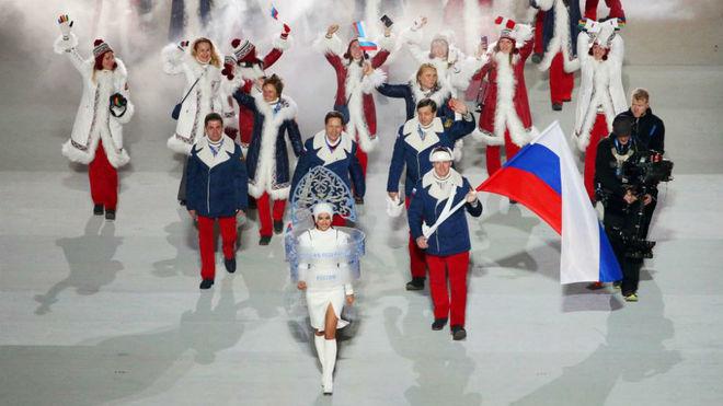 Ceremonia inaugural de Sochi 2014.