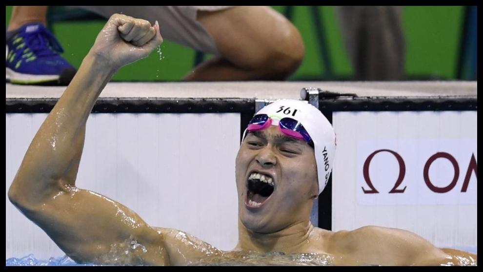 Sun Yang, tras ganar en los 200 libres de los Juegos de Río