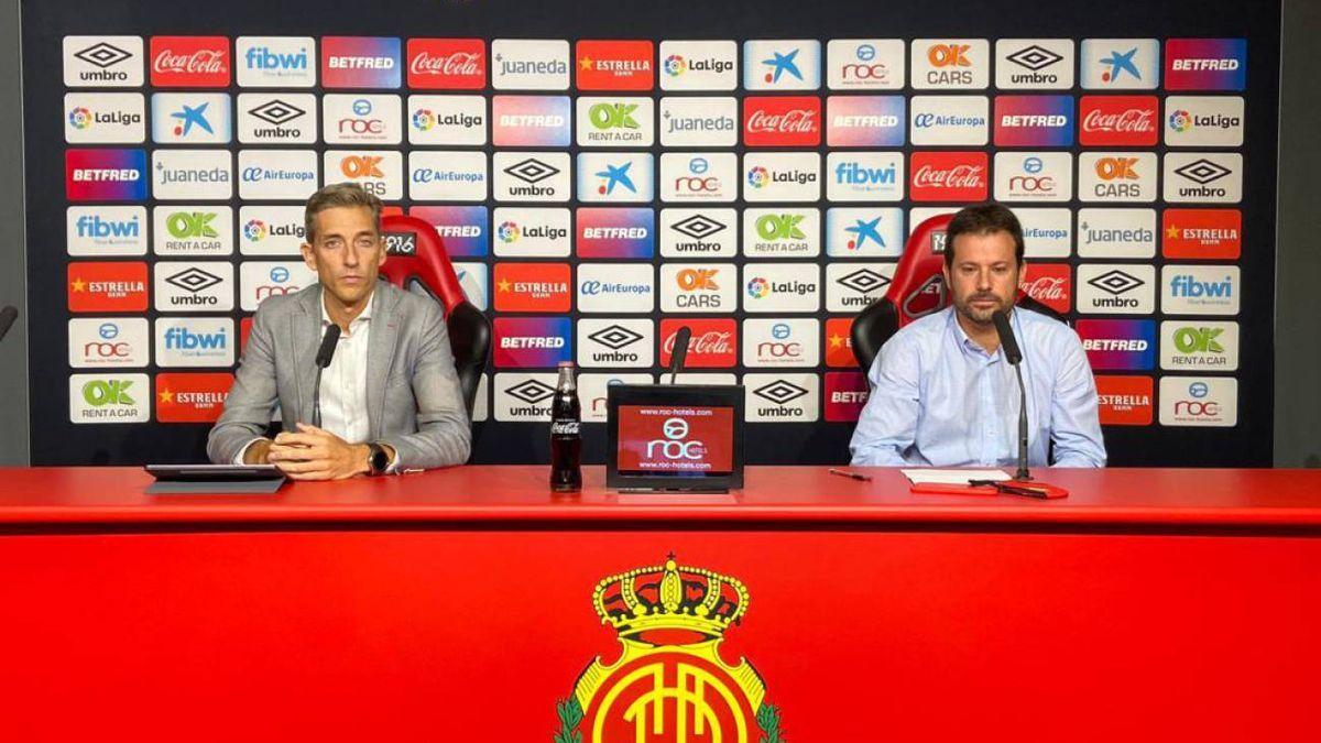 Los directivos Pablo Ortells y Alfonso Díaz durante su comparecencia
