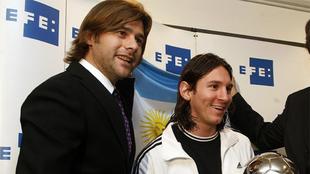 Pochettino y Messi, en una imagen de archivo de 2008.