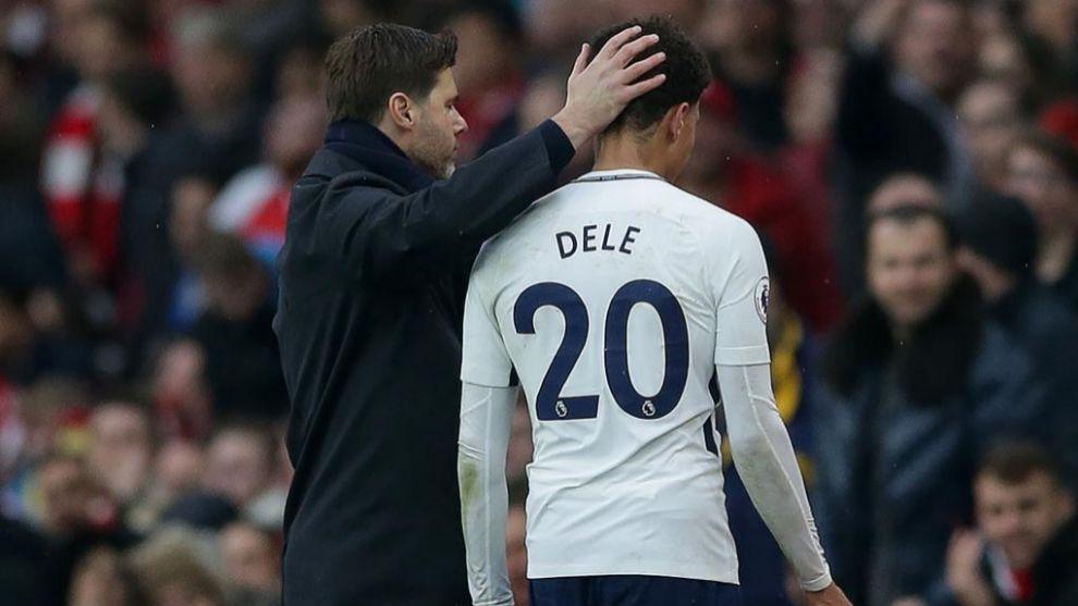 Pochettino y Dele Alli en el Tottenham