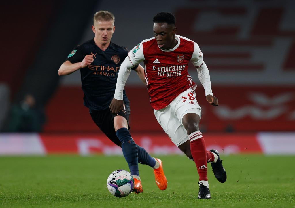 Folarin Balogun con el Arsenal
