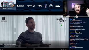 Ibai Llanos reacciona ante la pregunta de Jordi Évole a Messi sobre...