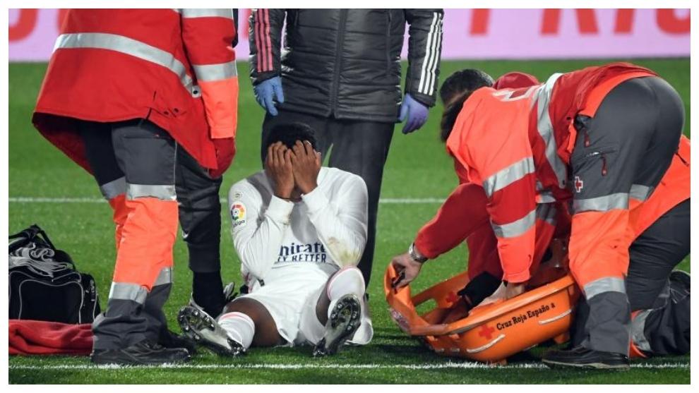 El madridista Rodrygo, tras su reciente lesión.
