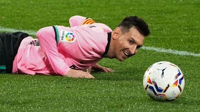 Leo Messi, durante un partido de esta temporada