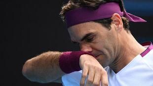 Roger Federer durante el pasado Abierto de Australia.
