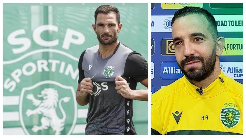A la izquierda, Antonio Adán. A la derecha, Rúben Amorim.