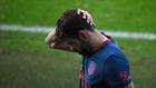Diego Costa se lamenta tras su lesión en Balaidos.