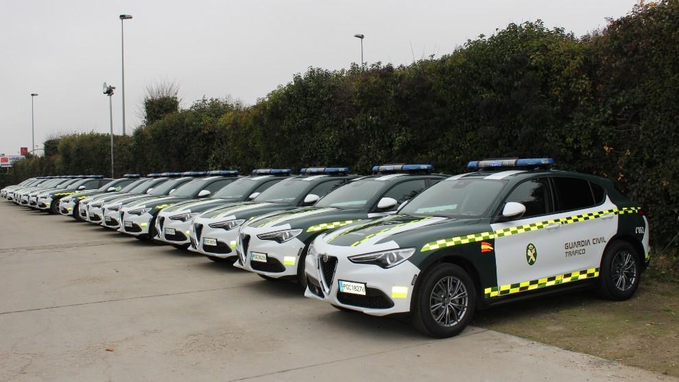 La Guardia Civil 'recluta' a 18 nuevos Alfa Stelvio.
