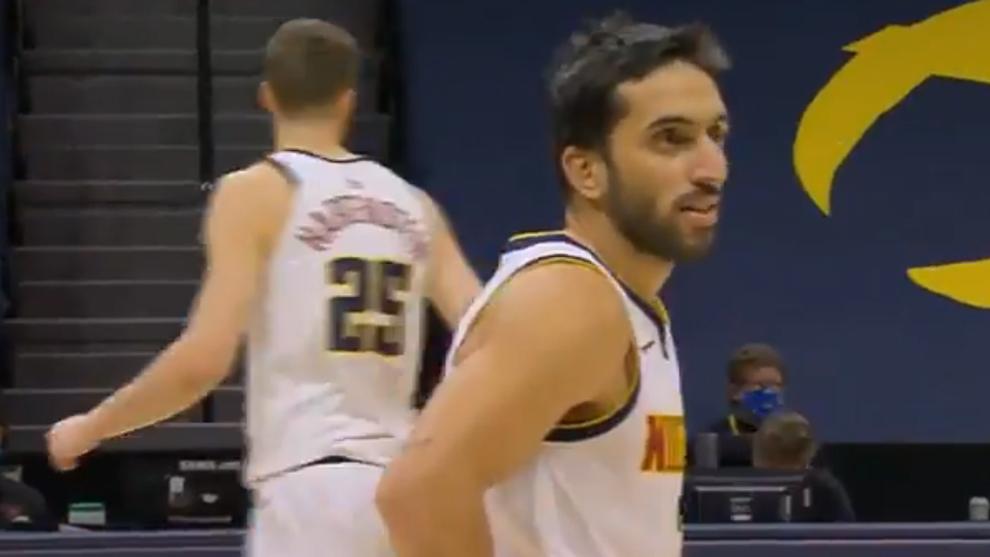 Facundo Campazzo durante el partido ante los Rockets