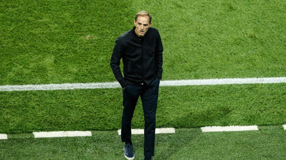 Thomas Tuchel, durante un partido un partido de la Champions League.