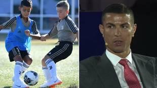 """Cristiano, sobre su hijo: """"Veremos si es futbolista, a veces bebe Coca-Cola y come patatas fritas y sabe que no me gusta"""""""