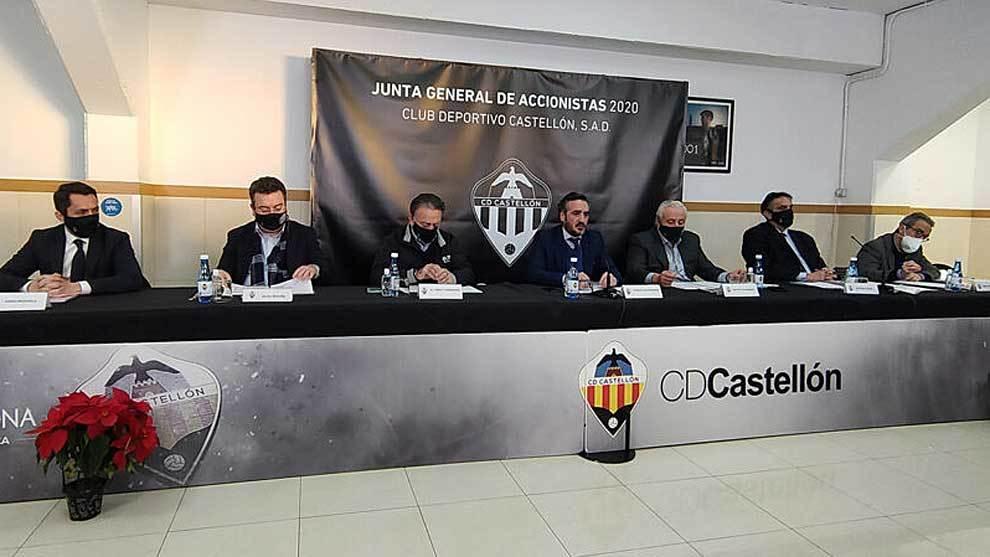 Imagen de la Junta General de Accionistas del Castellón celebrada...