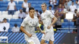 James y Bale, durante su etapa en el Madrid