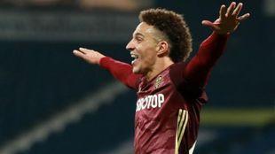 Rodrigo celebra su gol ante el West Brom