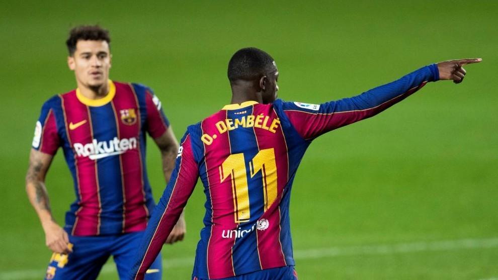Barcelona vs Eibar - LaLiga: Barcelona ratings vs Eibar: Dembele was the only spark   MARCA in English